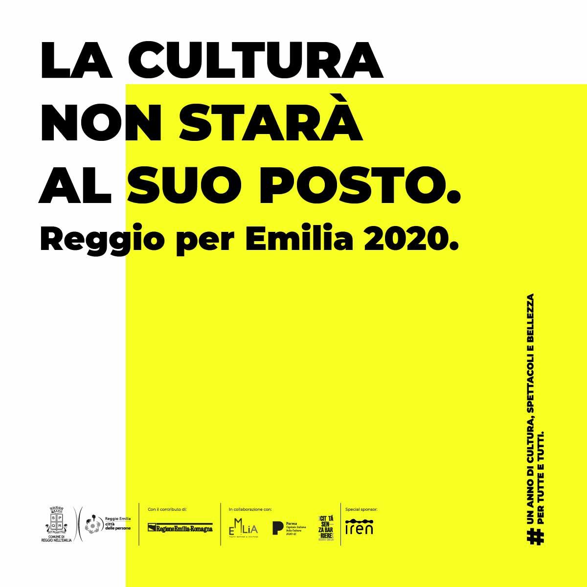 Reggio per EMILIA 2020 Happy Minds evidenza