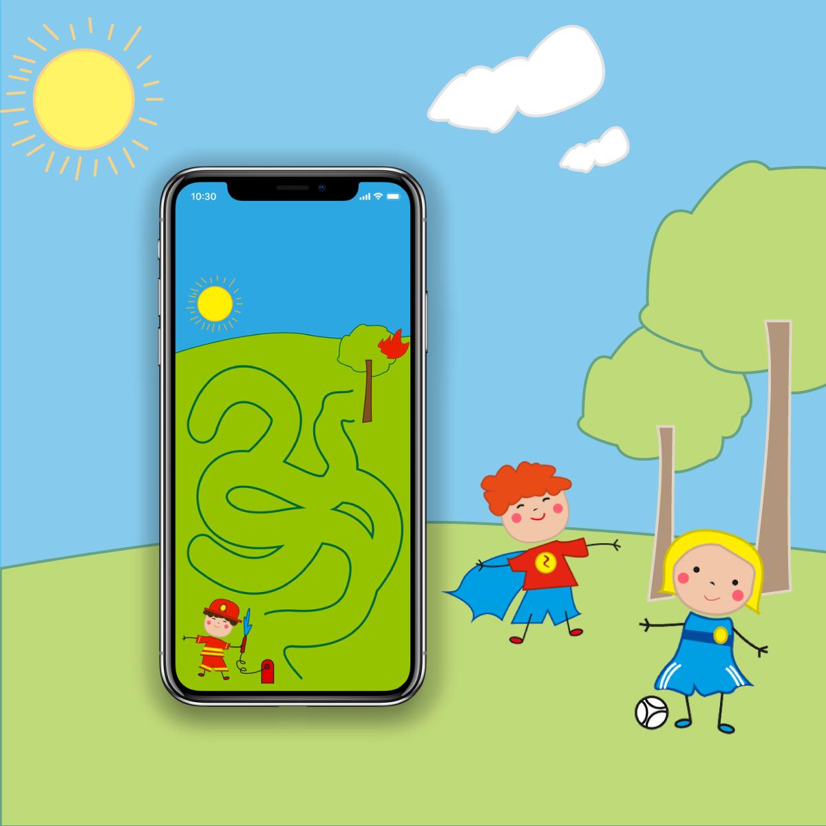 Colourful Children educational game design