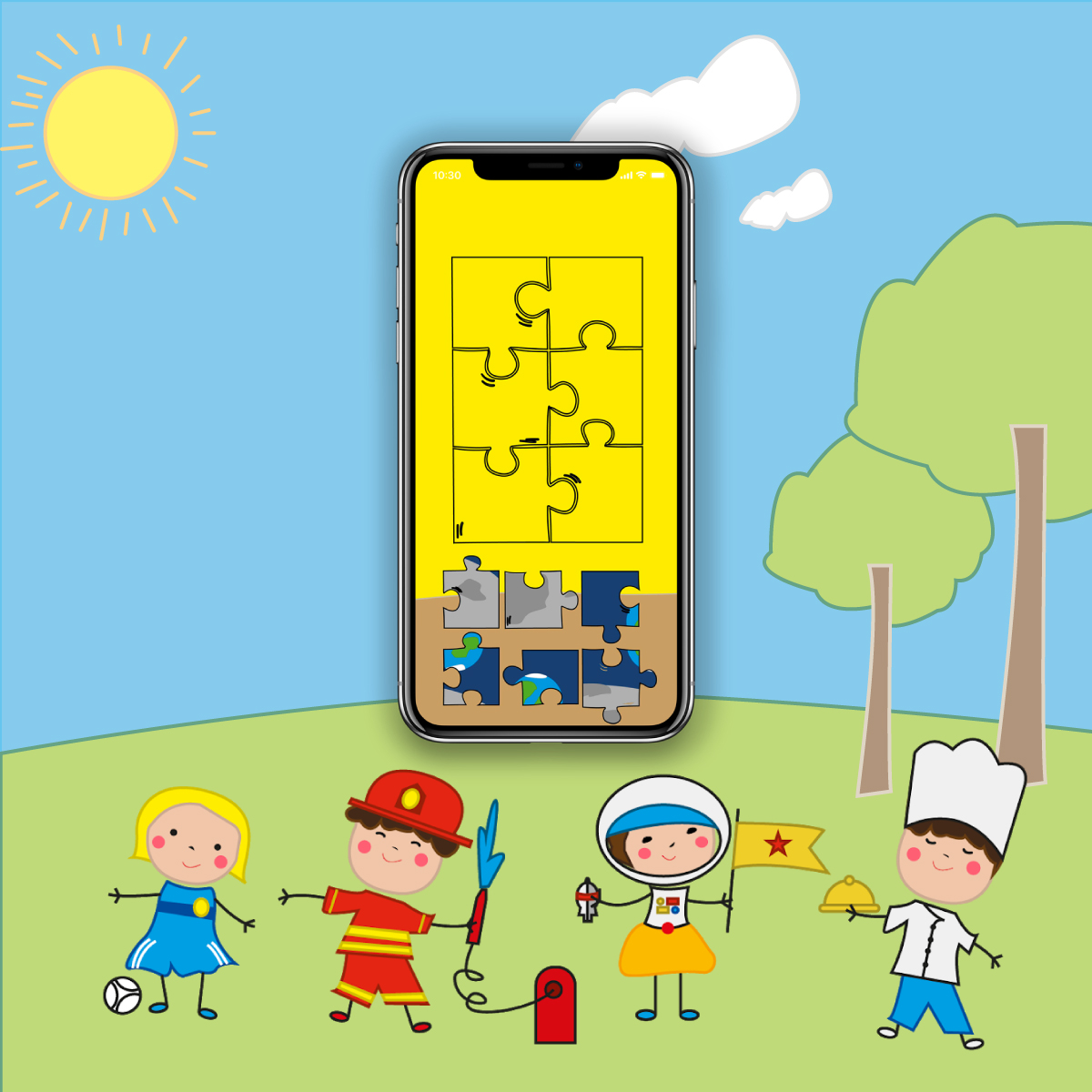 Colourful Children ducational game design